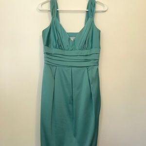 Maggy London Turquoise Satin Dress